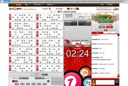 Bingo online di Giocodigitale