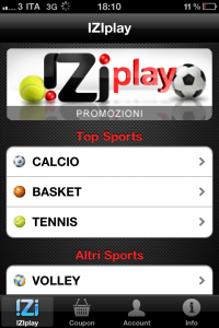 iZi scommesse2 200x300 IZIplay su iPhone