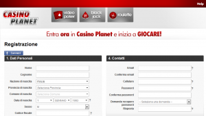 casinoplanet registrazione 300x170 Casino Planet   Review