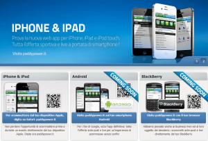 le apps di paddy power per ihone android e blackberry